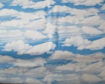Blue Sky White Clouds Landscape Fabric - RJR - Danscape