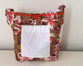 Hawaiian Fabric Handbag/ Purse/ Summer