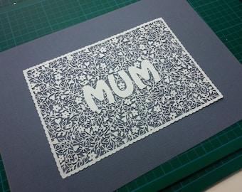 Mum papercut - TEMPLATE