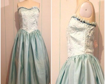 Deadstock Seafoam Green Prom Dress