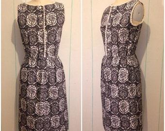 60s Damask Day Dress