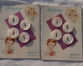 Vintage Buttons - Lot of carded buttons for your next sewing project 8 buttons