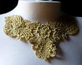GOLD Lace Applique for Lyrical Dance, Jewelry, Costume Design, Garments SGLA 406
