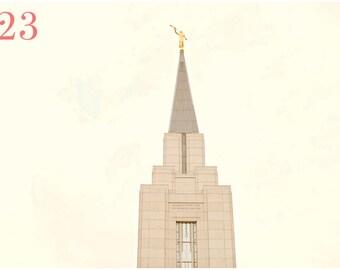 Vancouver BC LDS Temple Fine Art Canvas wrap -Mormon -Canada -Angel Moroni -2 options