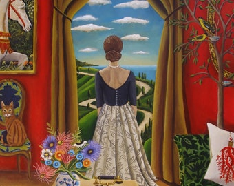Fine Art Print of an original Still Life painting- Nelle mani Dio-by Catherine Nolin-