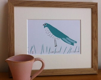 Little Bird, limited edition screen print by Liz Toole, only 3 left.