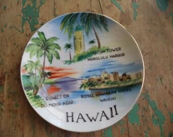 Vintage Hawaii Souvenir Plate
