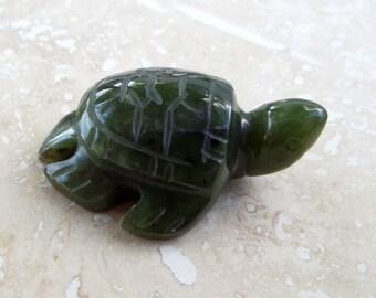 British Columbia Nephrite Jade Handcarved Sea Turtle Totem BeadAddic Attic on Etsy