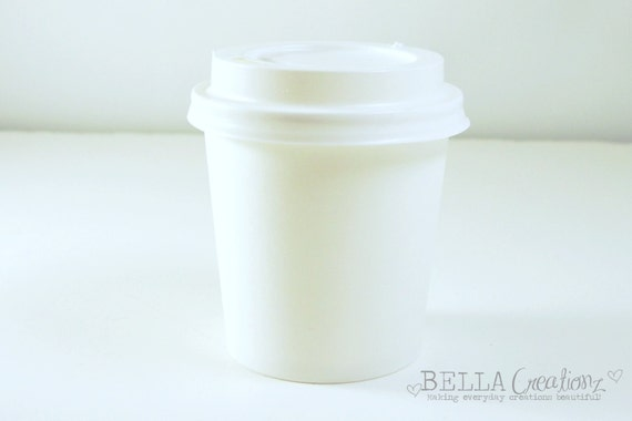 Small White Cups - 4oz - Perfect for party favors, treat cups, ice cream cups.