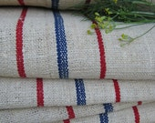 antique SWEDISH BLUE and RED 14.20 y upholstery fabric runner handloomed 20.89wide holiday feeling