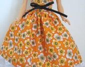 "Ready To Ship 11.5"" Fashion Doll  Dress - Orange Fashion Doll Dress - 11-1/2"" Fashion Doll Clothes"