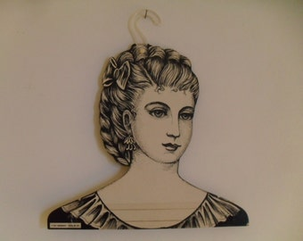 Vintage Ladies Head Face Clothing Hanger Victorian Retro Girl Store Display, Boutique or Home Décor 1960's
