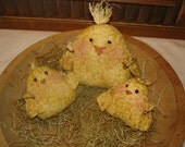 Mama Chick & Her Chicklets, Primitive, Rustic, Chicks, Easter, Spring, Ofg, Faap, Hafair, Dub, COSOFG