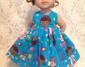 "Doc McStuffin * Doll Dress fits 15"" - 18"" American Girl, Bitty Baby or 23"" My Twinn - sewnbyrachel"