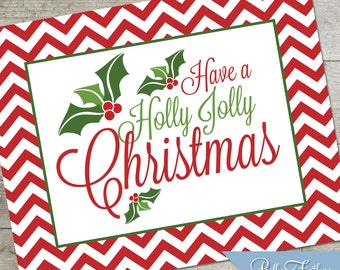 Holly Jolly Christmas Party Printables Instant Download