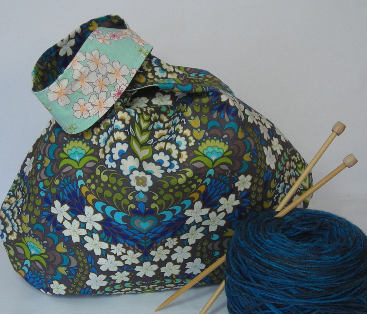 Knitting Project Bags For Sale : Sale project bag medium size japanese knot knitting