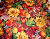 Quilting Cotton Fall Prints 44 in wide Thanksgiving Fall Festivals table runners place mats