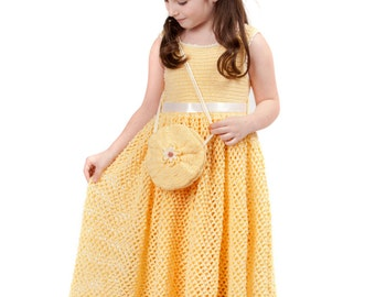 Summer - Debbie's Sunshine Daisies children crochet dress  Digital e Pattern (girl size 1, 2, 4, 6) 003P-SM