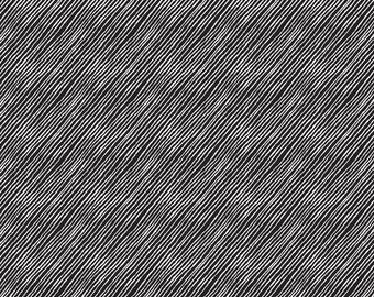 Price Reduced!  Black Linear Texture (40322-1) - BTY  - Windham