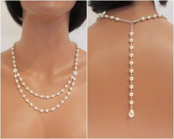 Brautschmuck perlenkette  Hintergrund Perlenkette Braut Hintergrund Halskette