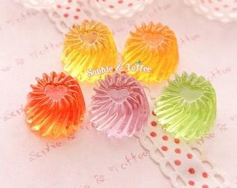 Jelly Pudding Fake Miniature Sweets / Kawaii Decoden / Fake Food - 5 pcs
