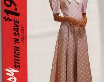 Vintage McCalls Stitch N Save Dress Pattern
