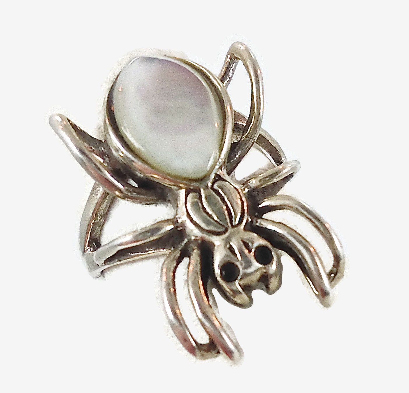spider sterling silver ring vintage thailand by