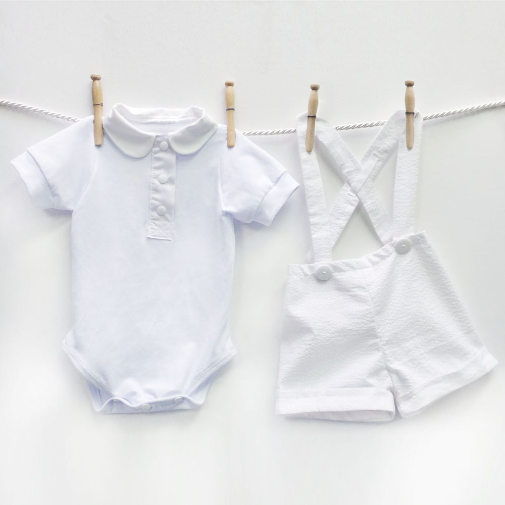 Baby Boy Christening Outfit Boys Baptism Outfit White