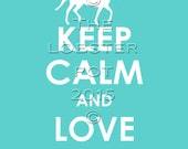RESERVED for Kim...Keep Calm and Love Baylor 11x14 print