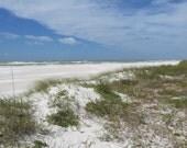 Beach sand shore coast serene color landscape 'Heavenly' a color landscape photograph by artist Jean Macaluso