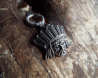 Native Chief Dread Charm Silver Tone Dreadlock Accessory Extension Accessories Dread Boho Bohemian Hippie Bead Dangle