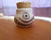 Porcelain Stash Jar with Rattlesnake design Signed by Artist