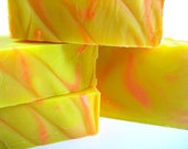 Citrus Energy Soap - Handcrafted Vegan Cold Process Soap - Tangy essential oil blend/homemade soap/handmade soap