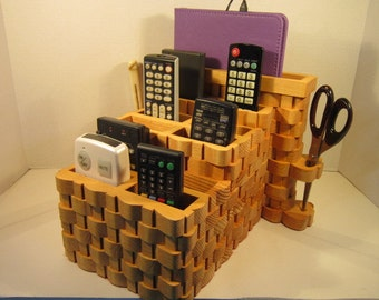 Tablet, LapTop, 10 TV Remote Organizer Handmade