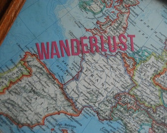 Vintage Map, Home Decor, Wanderlust
