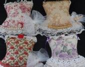 Set of Four Sachets, Boudour sachets, Burlesque Inspired Sachets, Lavender Filled sachets