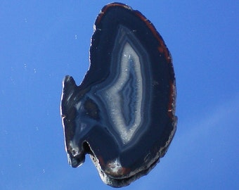 Agate Deep Black Crystal
