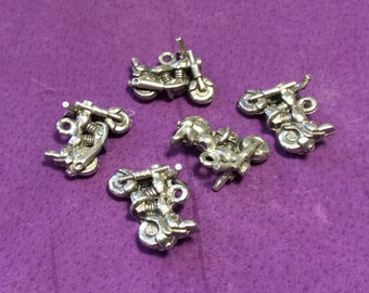 Motorcycle Pewter Charms
