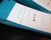 Layered Custom Wedding Program-Booklet Cutsom Colors and Fonts