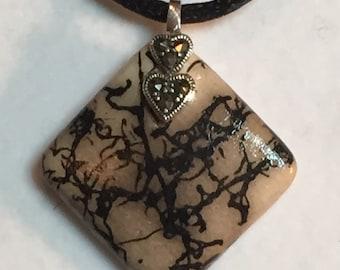 Horse Hair Pendant Necklace Jewelry Diamond Pendant Horsehair Jewelry Porcelain