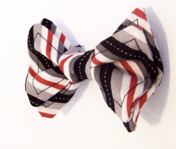 Boys Bow Tie - Black White Red All Over Bow Tie - Bow Ties Toddler - Newborn Bow Tie - Black Bow Tie - Black Tie - Red Bow Tie