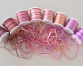 Blossom mix - 24 metres of 2mm variegated silk ribbon