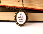 Les Miserables necklace. Quote jewelry. Finale. Long chain. Antique bronze or silver. Musical, movie inspired.