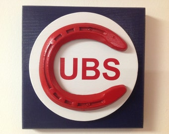 Chicago Cubs Lucky Horseshoe Wall Plaque