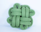 Good Luck Notknot pillow in light green