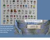 Personalized Custom knitting labels-Sew in Cotton labels- 40 plus designs to choose from