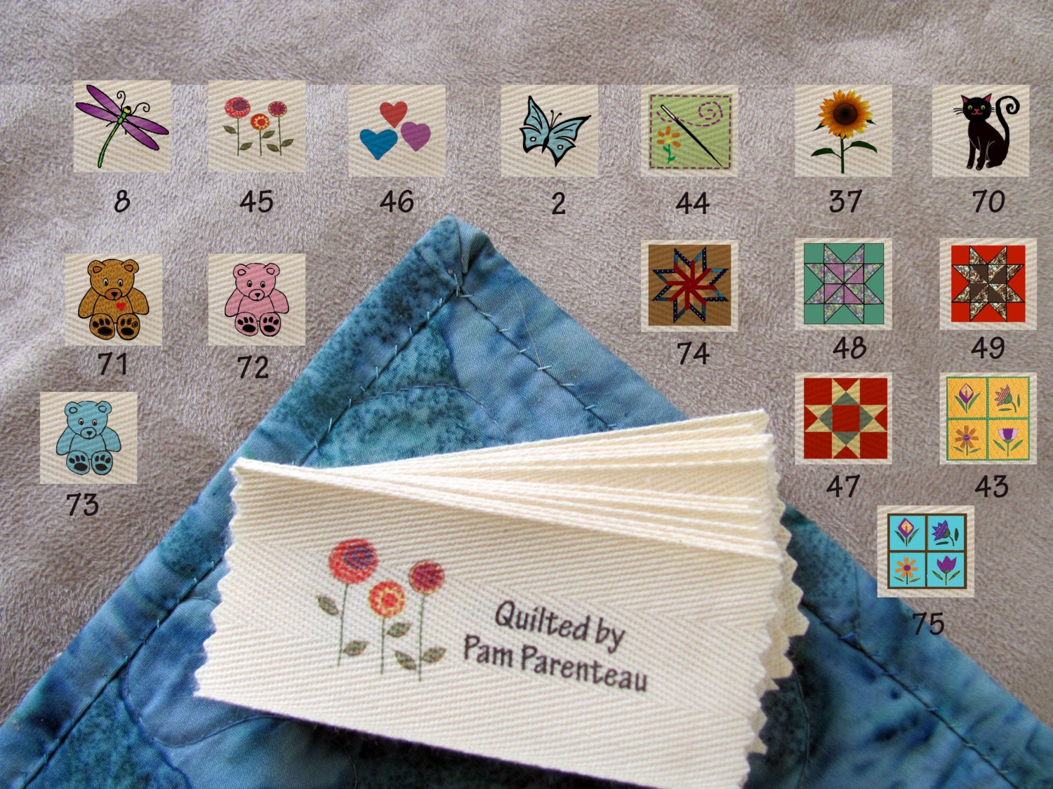 Personalized Quilting Labels 16 Designs To By