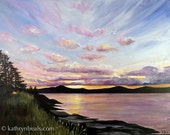 Salt Spring Island Sunrise Landscape Painting - Canvas Print Giclee Gallery Wrap