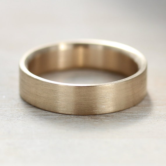... Recycled, Eco-friendly, Ethical Wedding Ring - Flat and Simple Ring