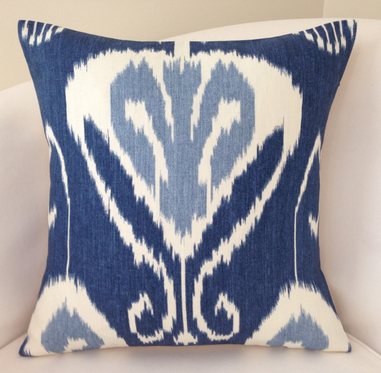 Indigo Blue Throw Pillow : Indigo Blue Pillow Cover Decorative Pillow Throw Pillow